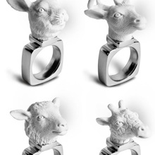 Кольца с головами животных