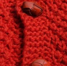 Модный красный кардиган