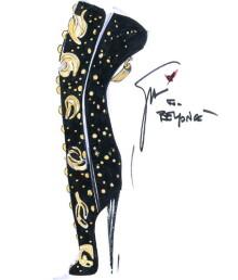 Джузеппе Занотти делает обувь для мирового турне Бейонсе