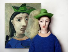 Флора Борси оживила картины Пикассо, Малевича, Модильяни и Хауснера