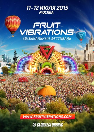 Fruit Vibrations 2015 везут Steve Aoki,  James Zabiela и Moonbeam.
