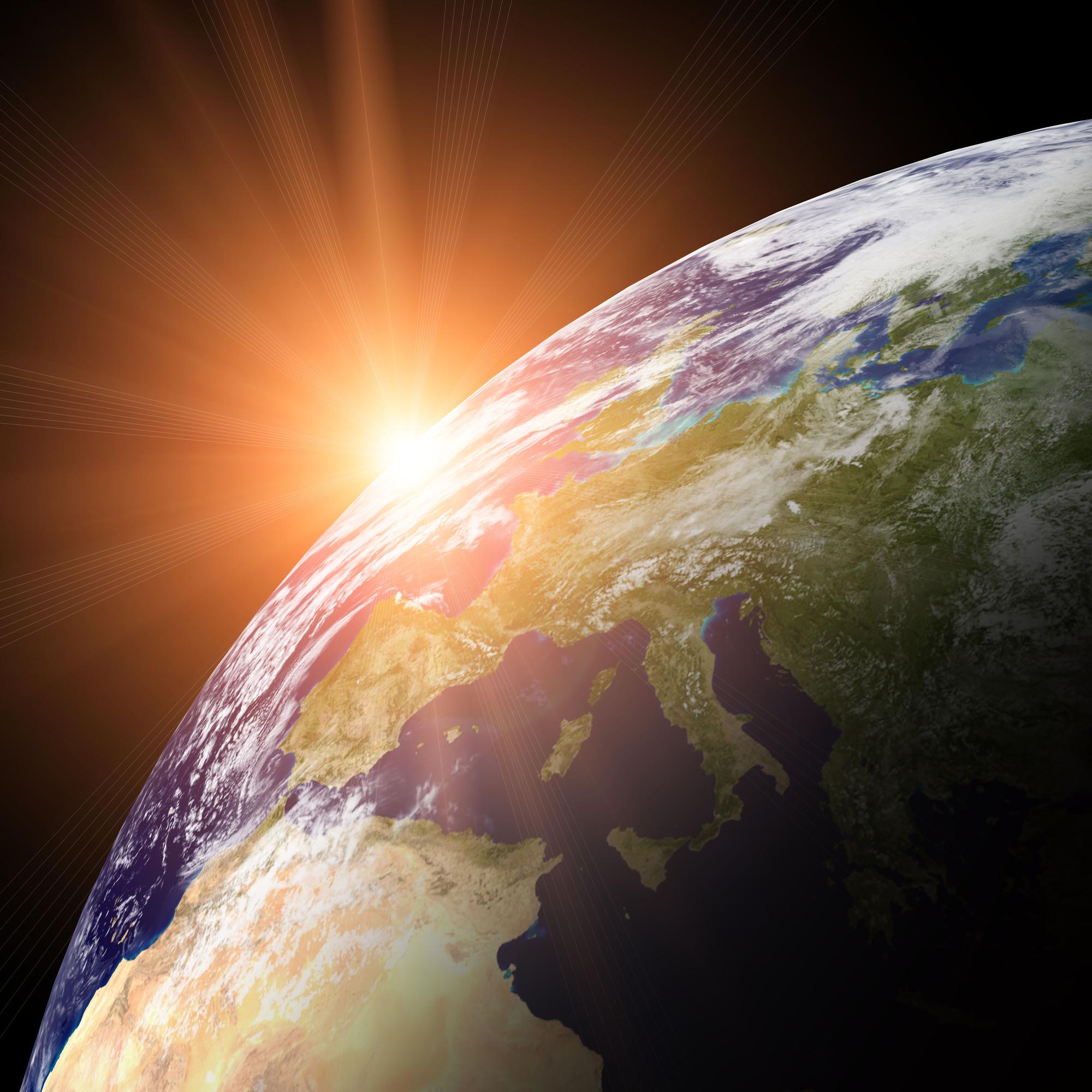 картинки планета земля на рассвете чёрное платье белом
